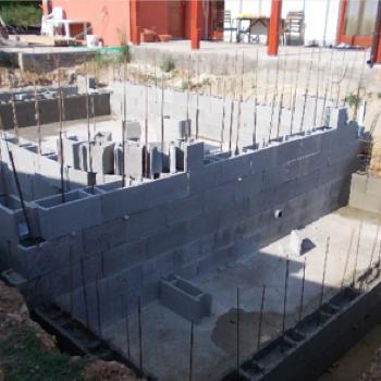 Železobetónová konštrukcia bazéna