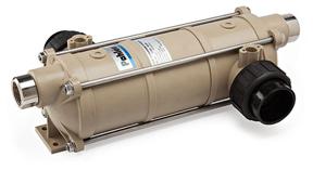 Plastový výmenník s titánovou špirálou pre slanú úpravu vody